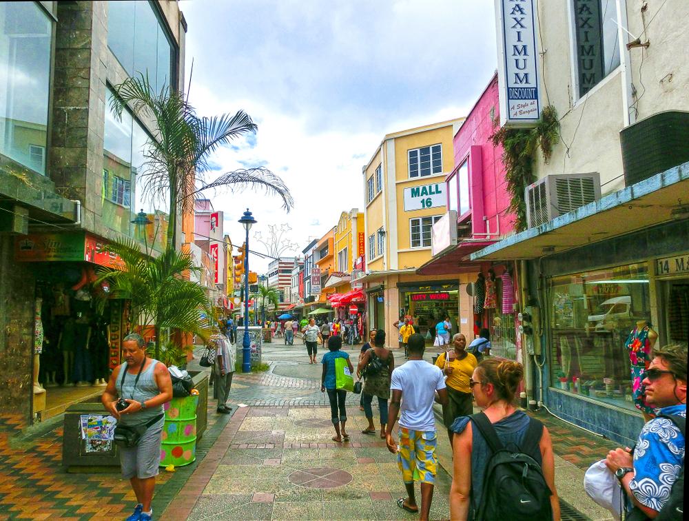 Главные улицы Бриджтауна на Барбадосе