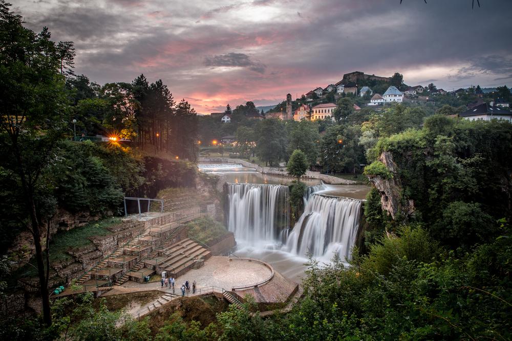 Водопад Плива в Боснии и Герцеговине