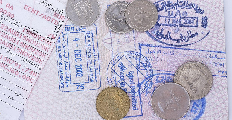 Въездной штамп в Бахрейн