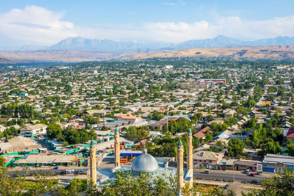Город Ош в Киргизии