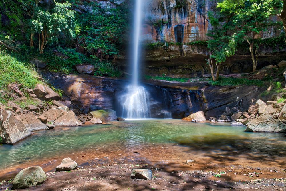 Один из водопадов в Парагвае