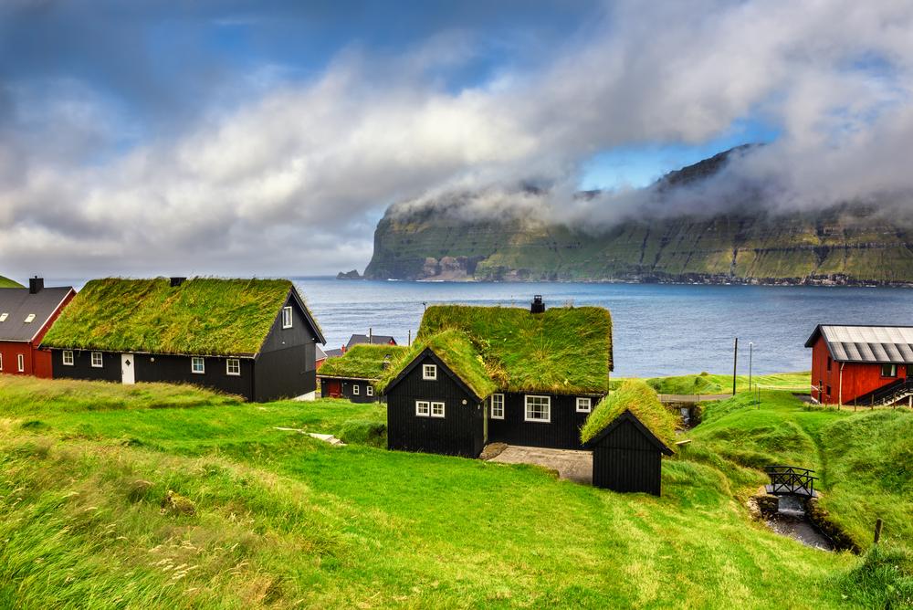 Деревня Микладалюр на Фарерских островах