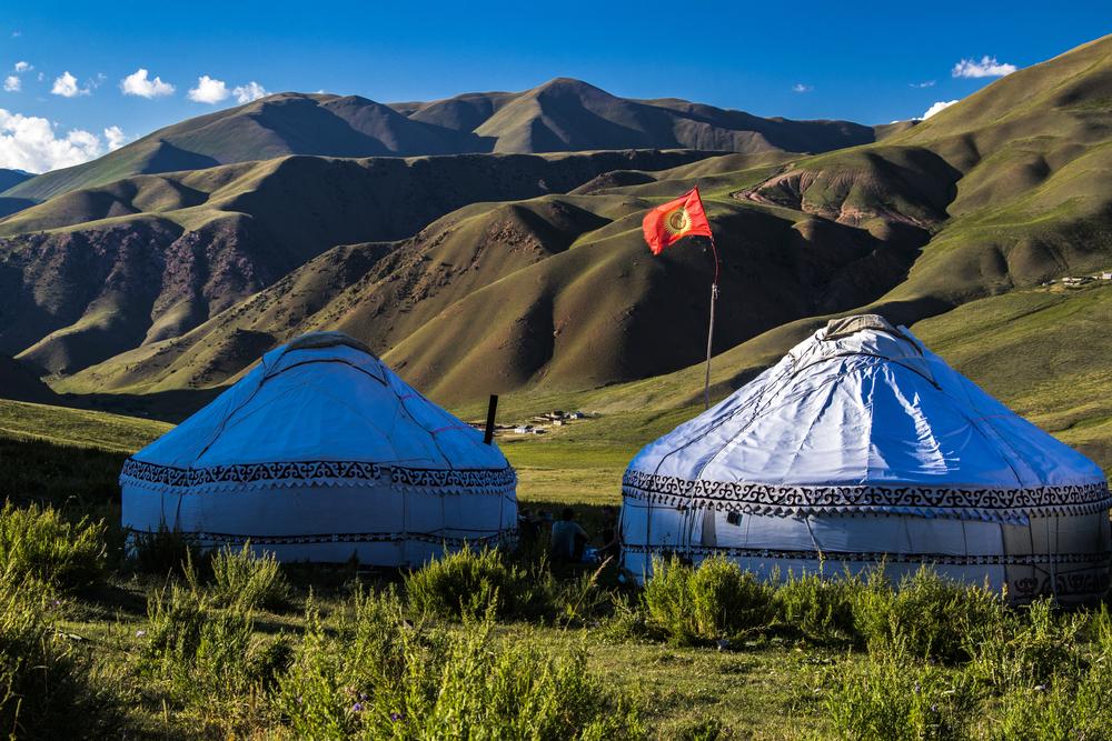 Юрты в Киргизии