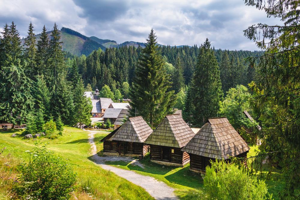 Деревня Зуберец в западных Татрах