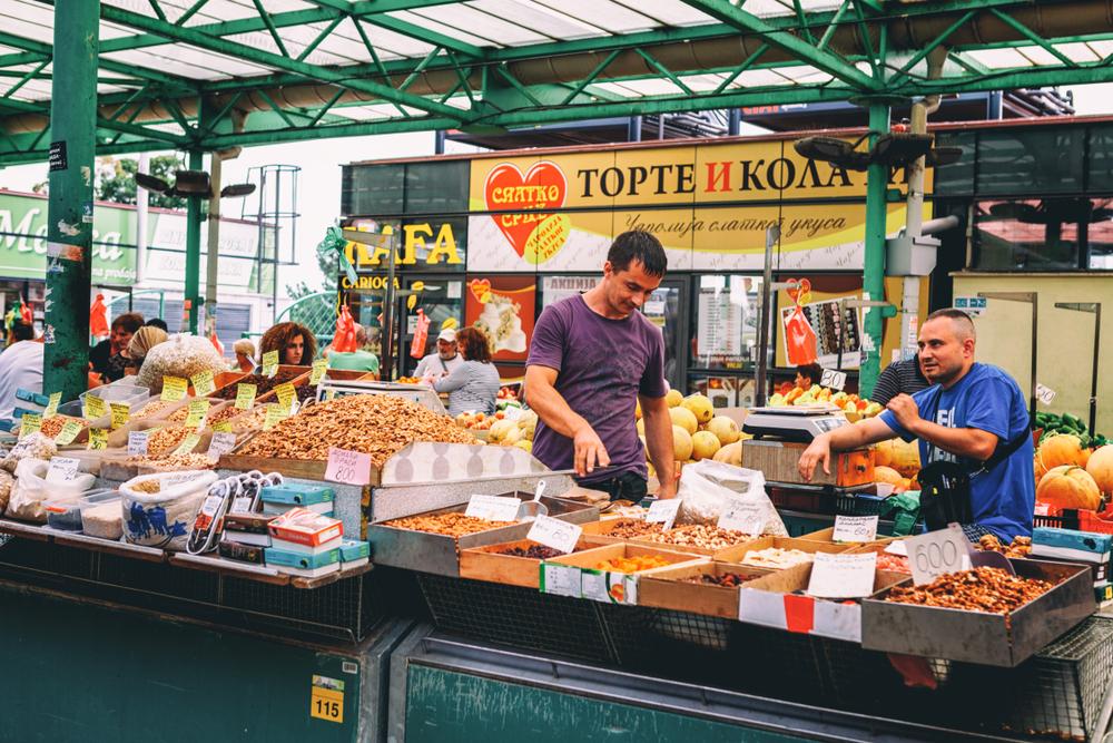 Фермерский рынок Зелени Венац в Белграде