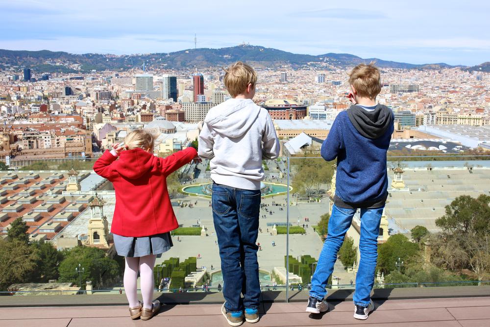 Вид с горы Монжуик, со смотровой площадки Национального музея искусства Каталонии