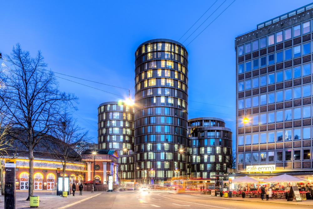 Современные башни Axel в Копенгагене