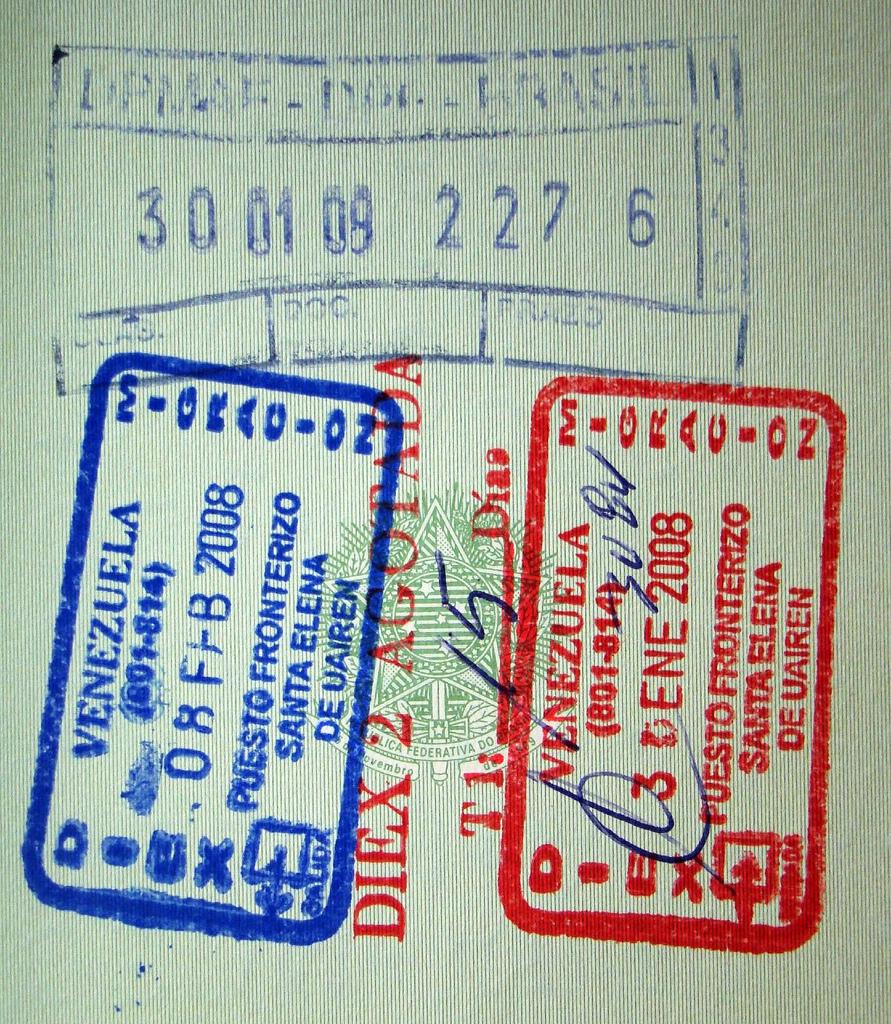 Въездной штамп в Венесуэлу