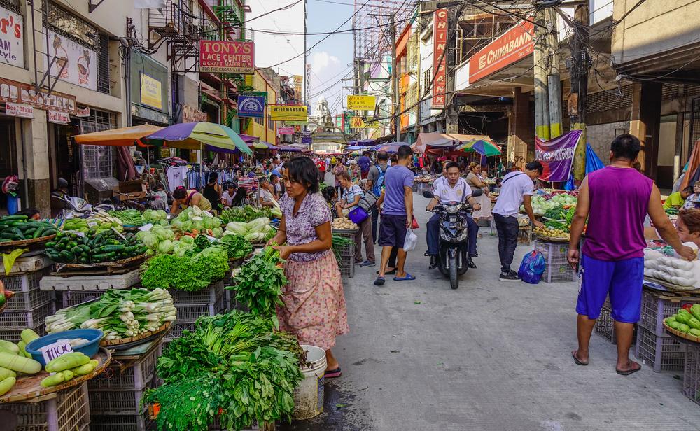 Овощной рынок в Маниле