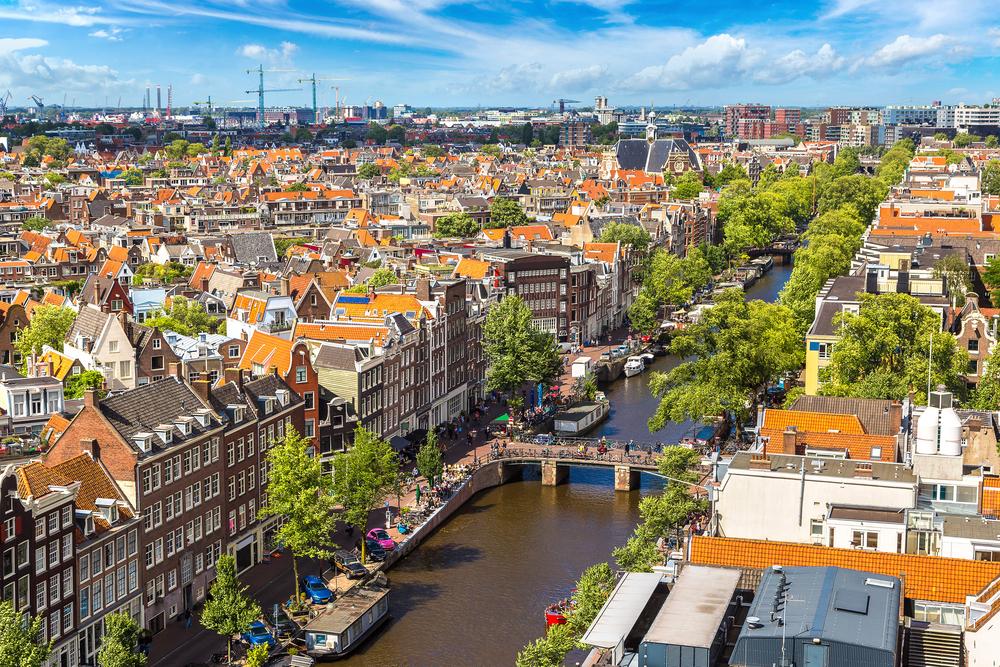 Панорамный вид на Амстердам
