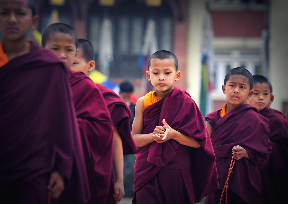 Буддистские дети-монахи