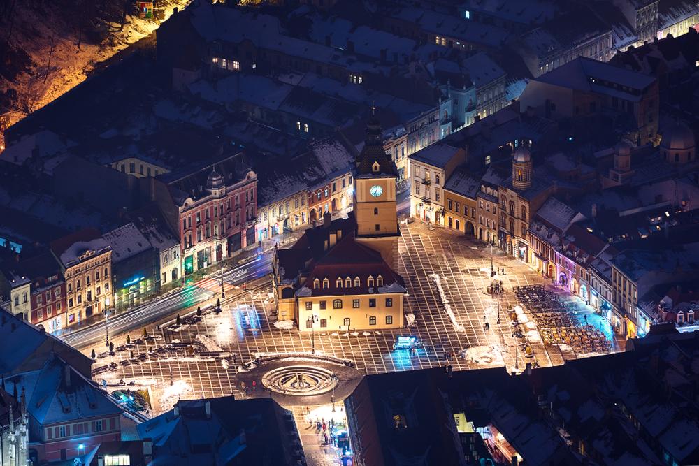 Брашов – город в Румынии, окруженный Карпатскими горами