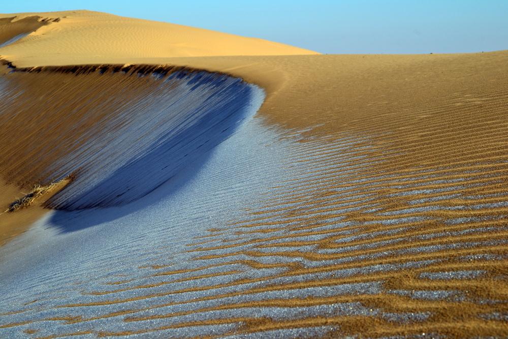Уникальные дюны в Туркмении