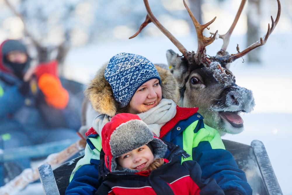 Зимнее сафари на оленях
