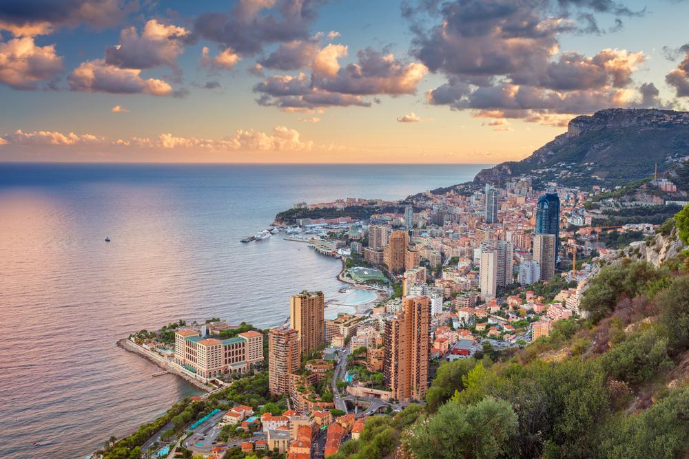 Панорамный вид на княжество Монако