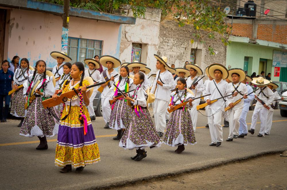 Парад на День революции в Мексике
