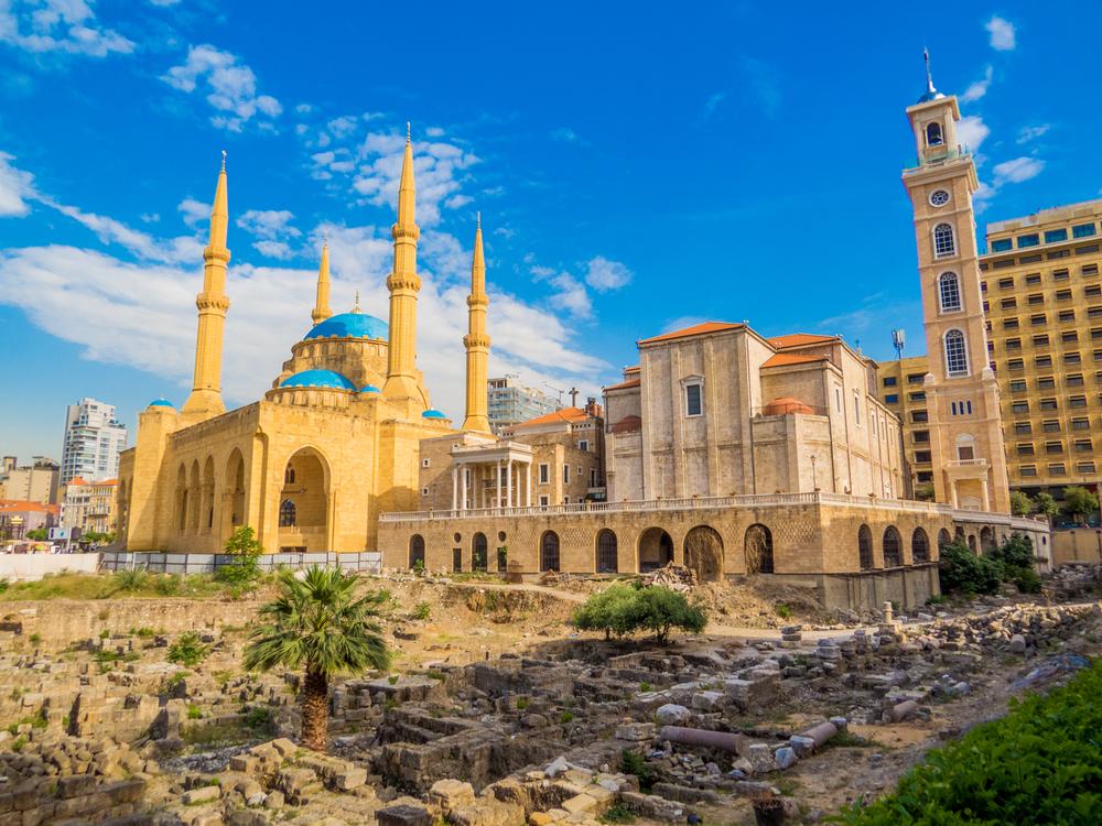 Мечеть Мухаммад Аль-Амин и греческий православный собор Святого Георгия