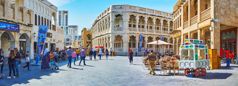 Площадь традиционного рынка Сук-Вакиф в Дохе