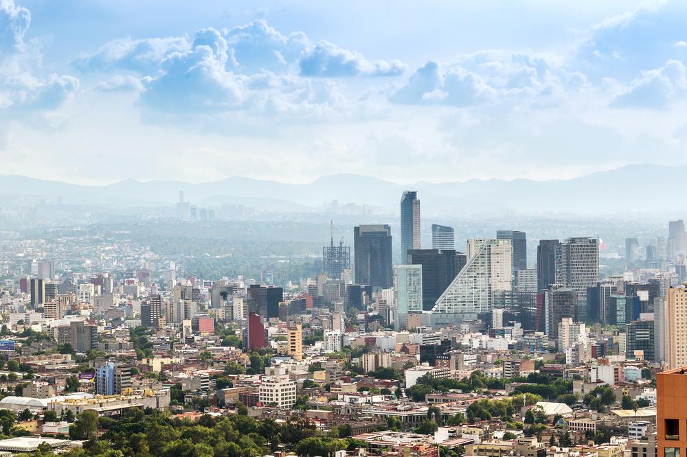 Панорамный вид на Мехико Сити