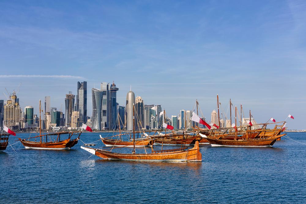 Традиционные арабские лодки в Дохе