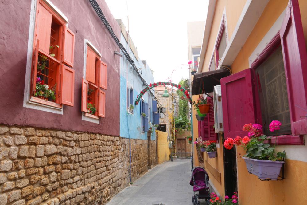 Улицы города Тир в южном Ливане