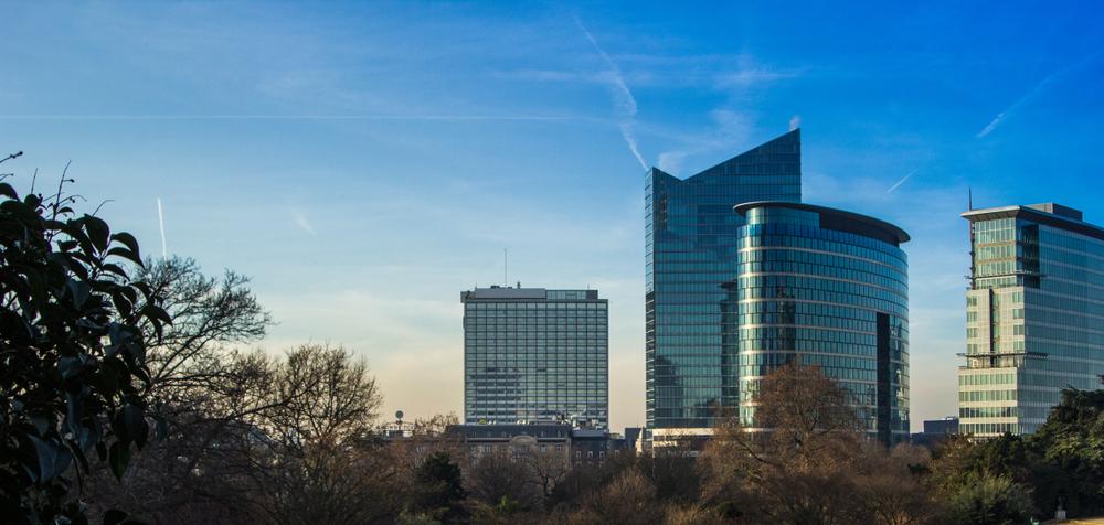 Современные здания в Брюсселе