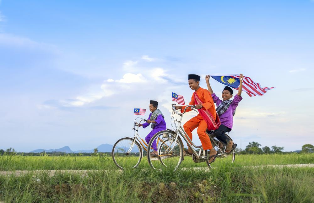 Дети в День независимости Малайзии