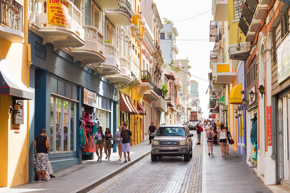 Главная улица Старого города в Сан-Хуане