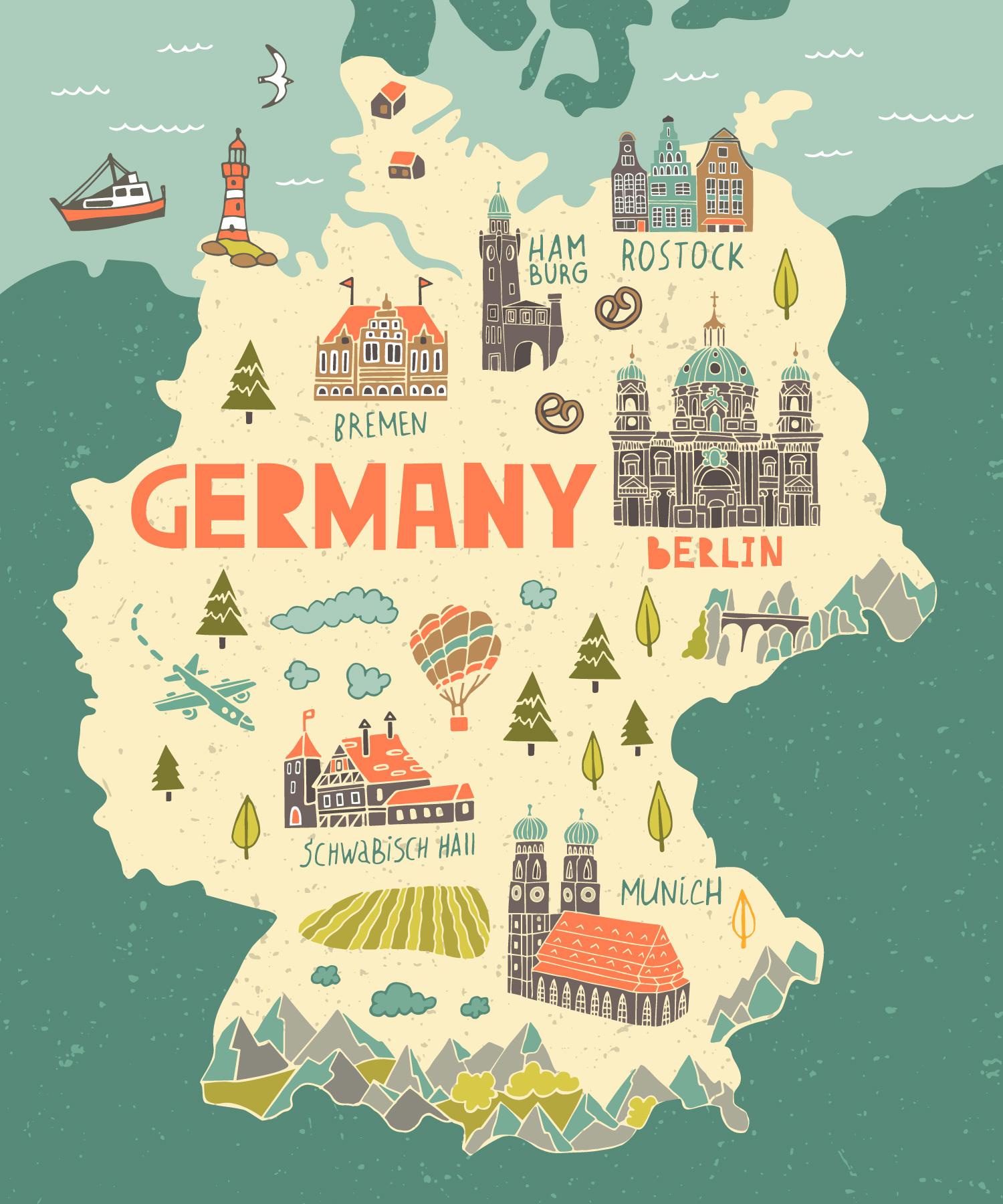 Иллюстрированная карта Германии