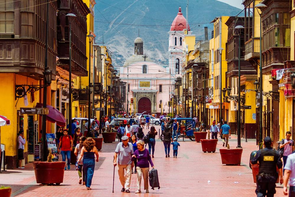 Колониальная улица в Лиме