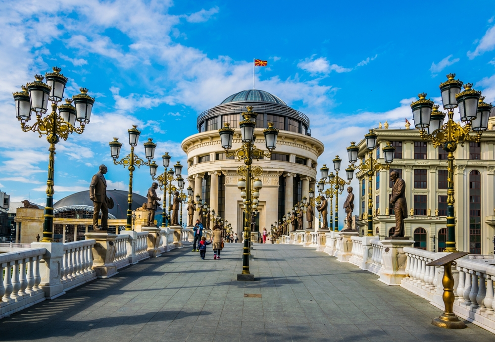 Мост Искусств в Скопье