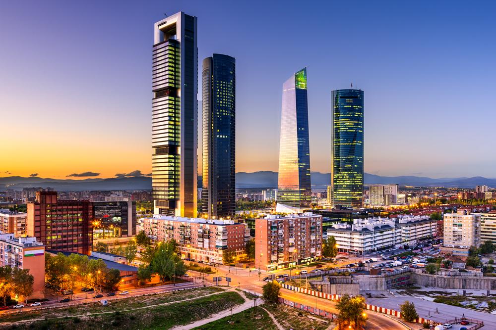 Вид на деловой квартал Мадрида