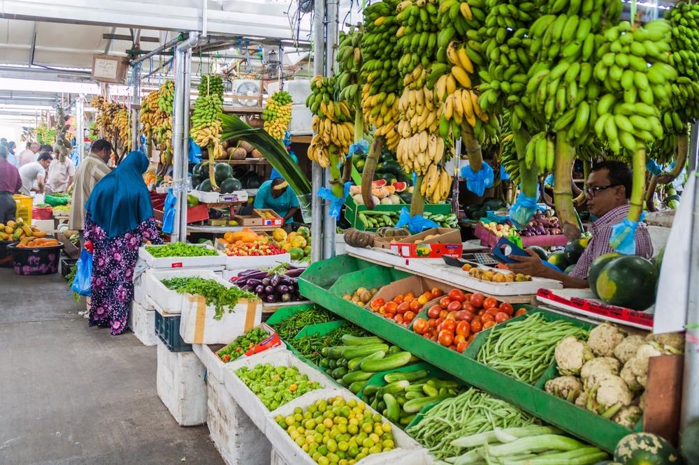 Продуктовый рынок в Мале