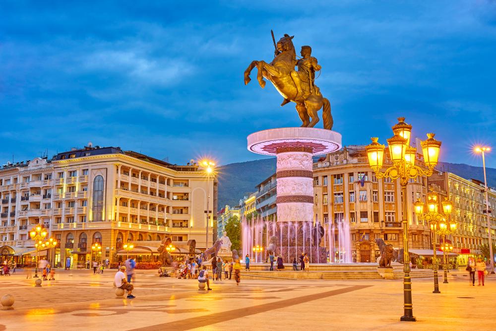 Статуя Александра Македонского в Скопье