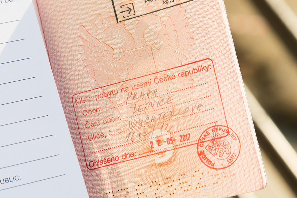 Регистрационный штамп в Чехии