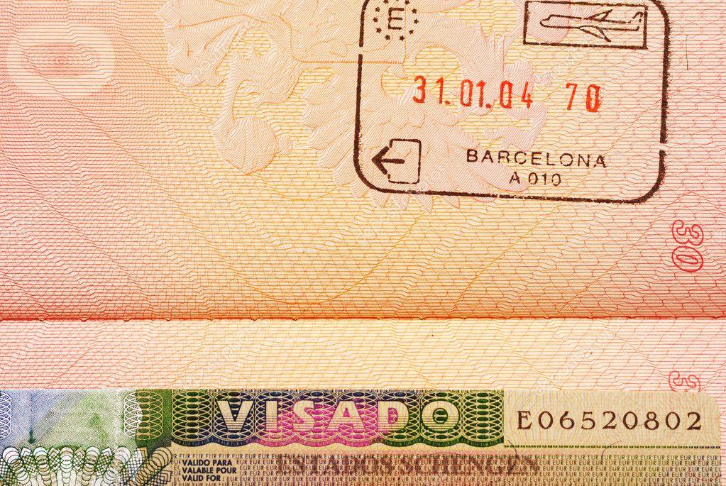 Въездной штамп в Испанию