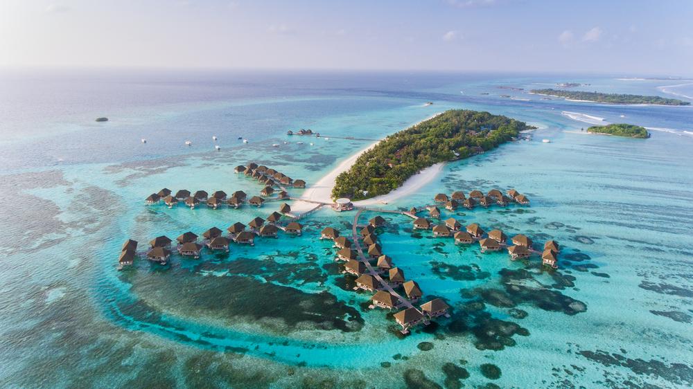 Панорамный вид на Мальдивы