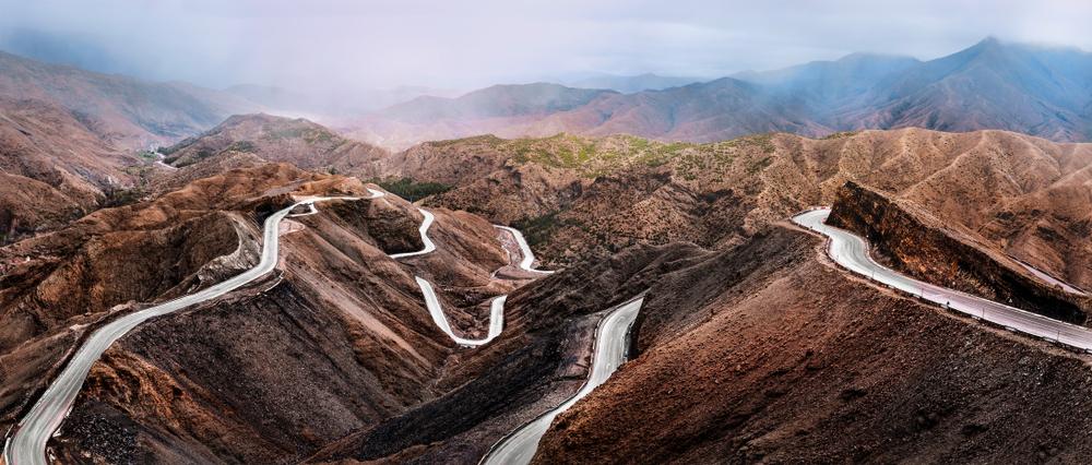 Дорога в горах Атлас