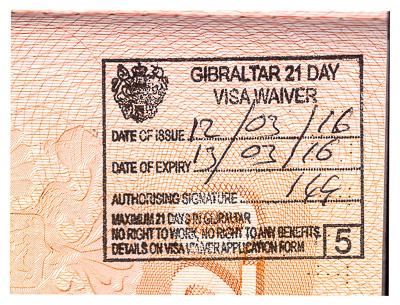 Штамп в паспорте при въезде