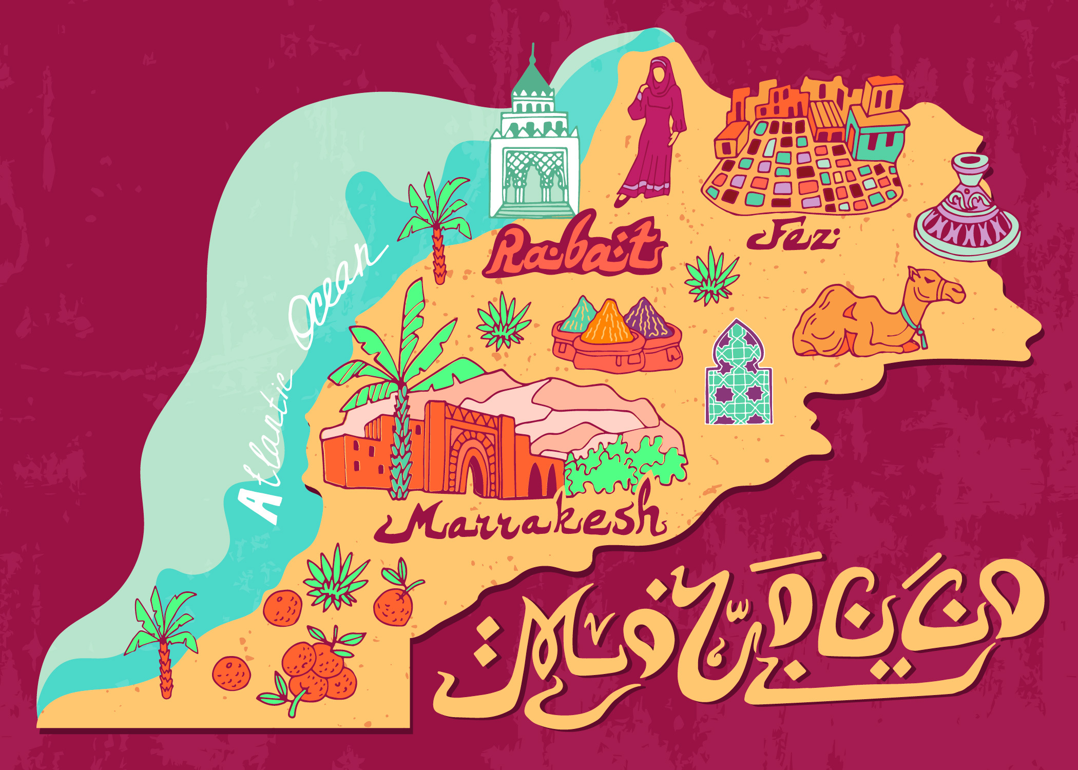 Карта Марокко