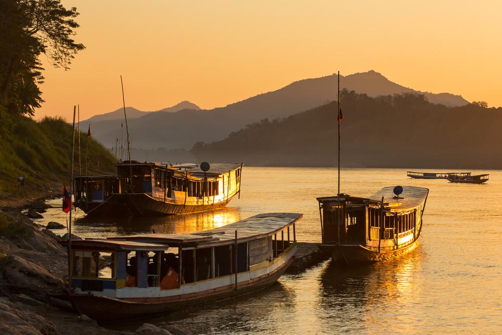 Лодки на реке Меконг