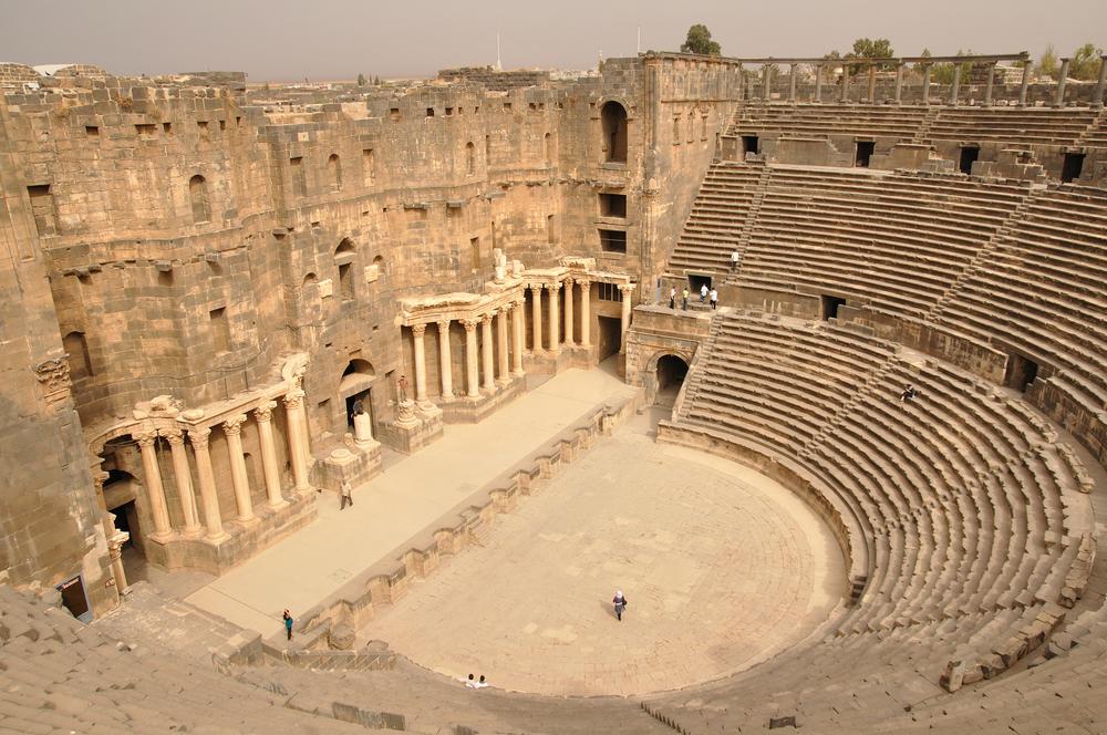 Древнеримский амфитеатр, Босра, Сирия