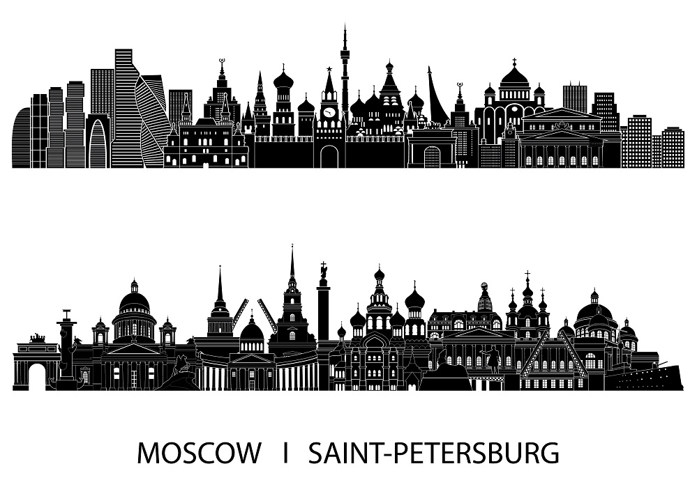 Москва или Санкт-Петербург