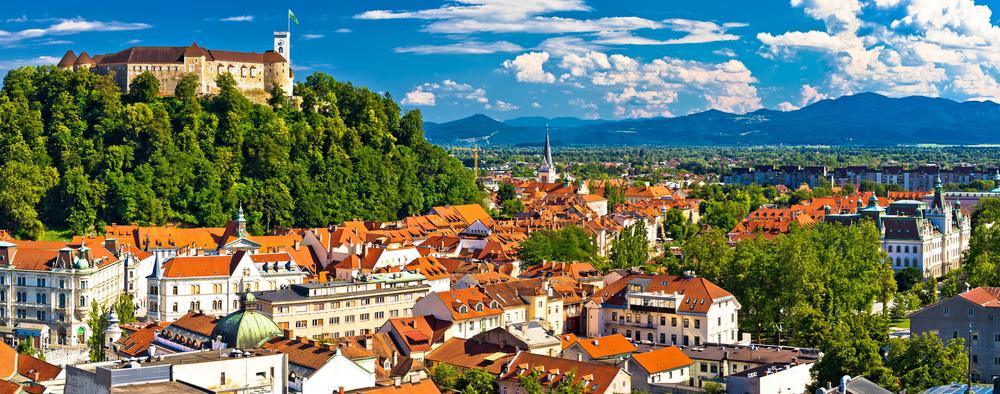 Панорамный вид на Любляну