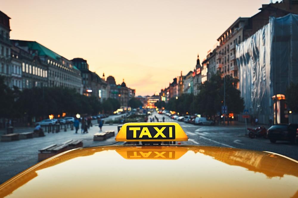 Работа в такси. Вацлавская Площадь, Прага