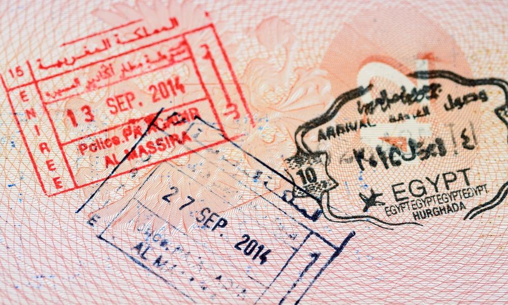 Штамп Египта в паспорте