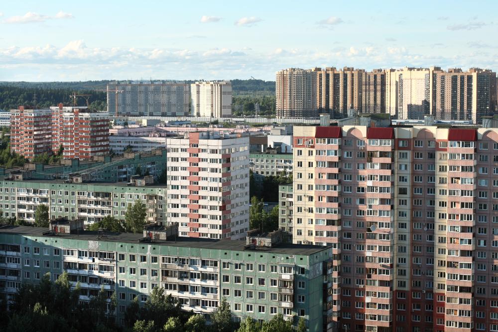 Спальный район в Санкт-Петербурге