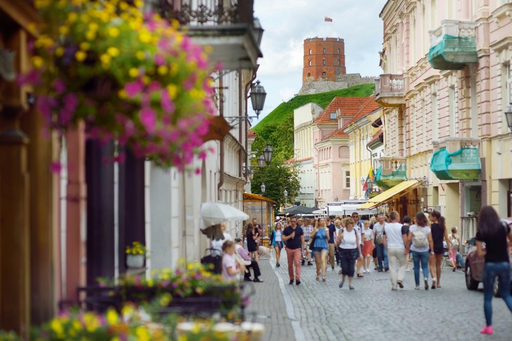 Уютная улочка Старого города Вильнюса
