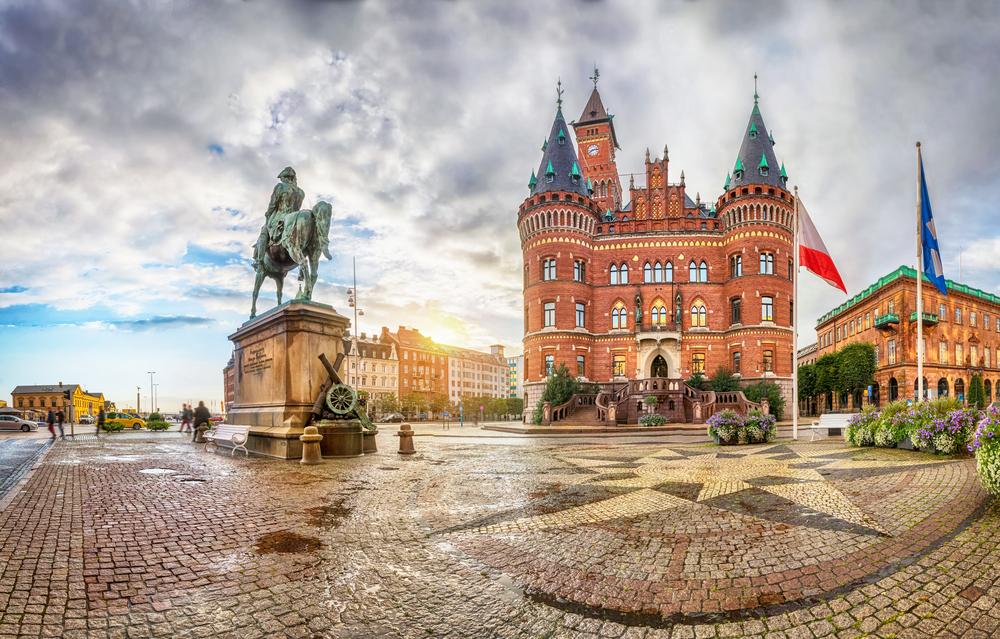 Вид на Ратушу Хельсингборга