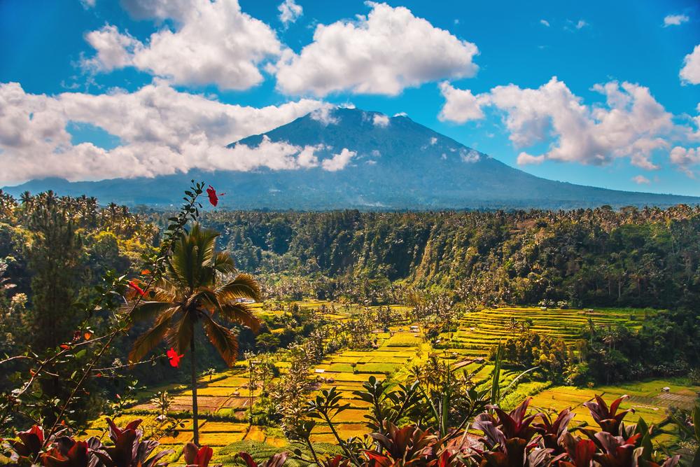 Вулкан Агунг, Бали, Индонезия